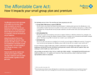 How Health Care Reform Impacts Your Small Group Plan (Anthem)