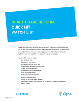 CIGNA Health Care Reform Quick Hit Watch List