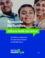 DMHC Health Reform Toolkit Families