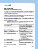 Employer Duty To Provide Coverage (Anthem)