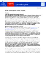 Health Insurance Market Reforms: Portability