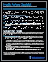 Reform Checklist