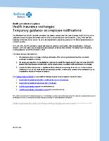 Temporary Guidance on Employee Notification (Anthem)