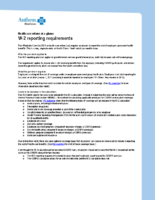 W-2 reporting requirements (Anthem)