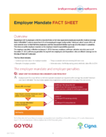 Employer Mandate Fact Sheet (Cigna)