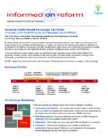 Health Benefit Exchanges Fact Sheet (Cigna)