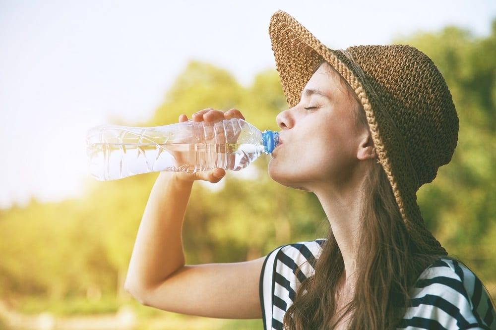 drinking water in summer
