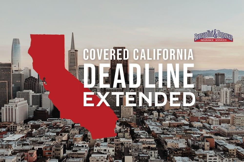 Covered California deadline extended