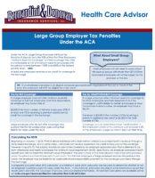 HCR Advisor Flyer Large Employer Tax Penaltie