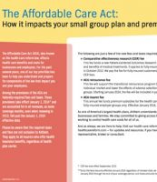 How Health Care Reform Impacts Your Small Group Plan