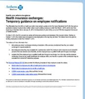 Temporary Guidance on Employee Notification